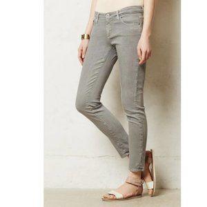 AG The Stevie Ankle Slim Straight Leg Gray Jeans